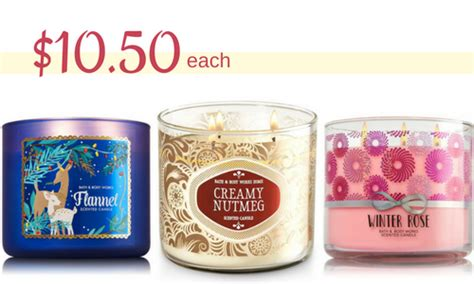 Where To Get Bath And Body Works Gift Cards - bath body works 3 wick candles for 10 50 southern savers