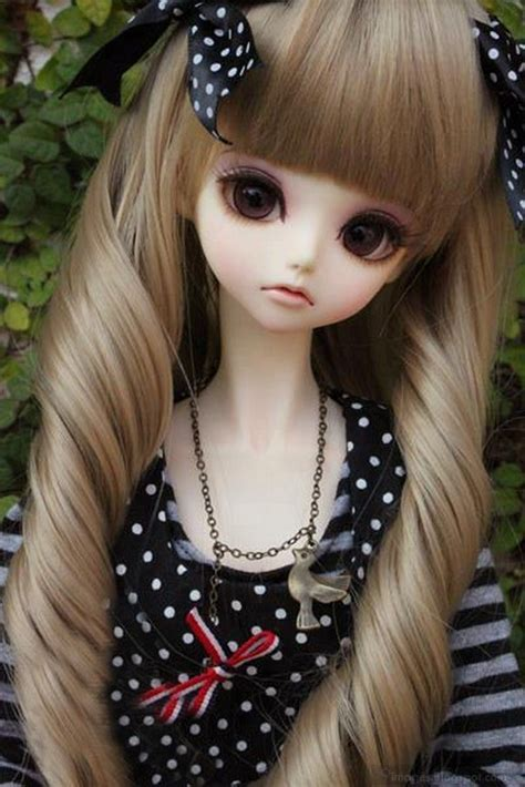 fashion doll pic doll with black and white dotted dress tumblr18