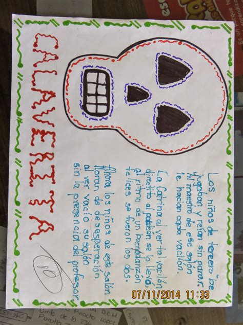 imagenes de calaveras literarias inventadas concurso de calaveras literarias escuela primaria