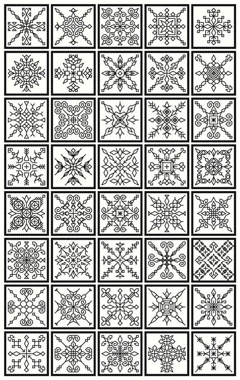 design patterns pdf blackwork collection 20 bookmarks 40 snowflakes and