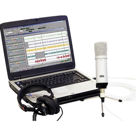audio desk recording software mxl desktop recording kit white pc musician s