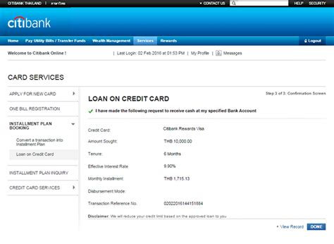 Citibank Ready Credit Application Form Citi Click For Apply Citibank Thailand