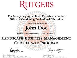 Rutgers Mba Who To Contact For Class Registration by Landscape Business Management Certificate Program