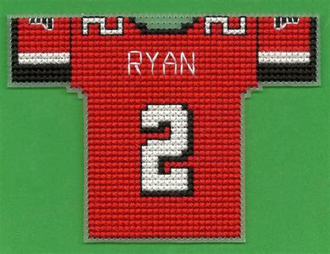 jersey stitch pattern atlanta falcons mini football jersey cross stitch by