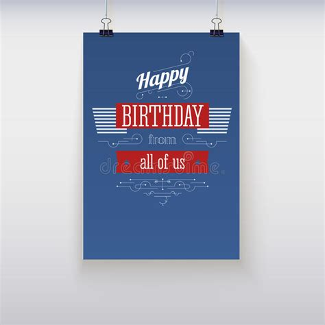 hanging poster stock illustration image 55507025 poster happy birthday stock vector image of background