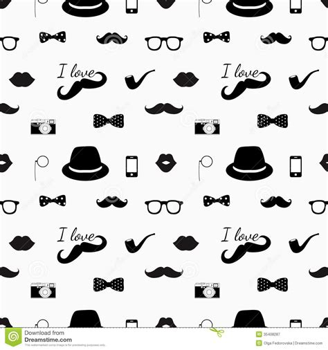 Black And White Hipster Pattern Backgrounds | hipster black and white seamless pattern stock vector