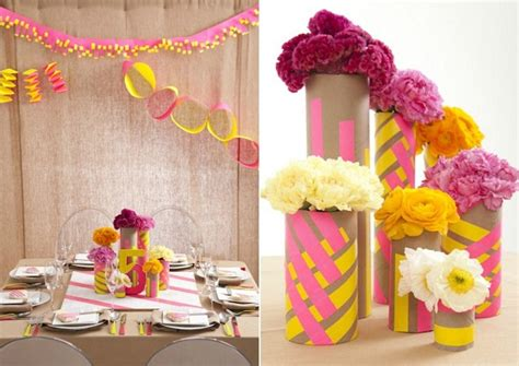 Washi Pink Flower Yellow Base neon neutrals design for guest feature