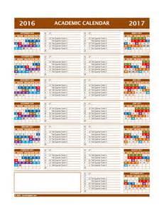 academic calendar template 2016 2017 academic calendar template calendar template 2016