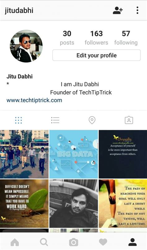 bio instagram tricks how to put your instagram name and bio in the middle