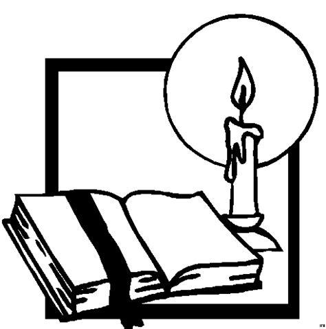 bibel und kerze ausmalbild malvorlage religion