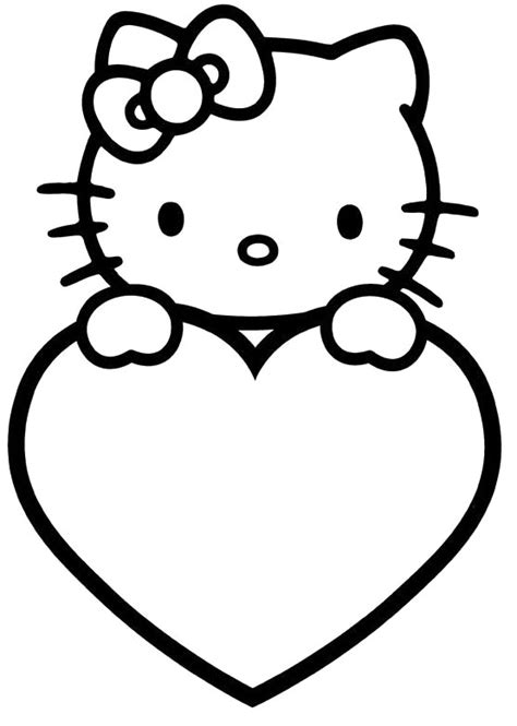 kitten valentine coloring page hello kitty valentines day coloring pages valentines