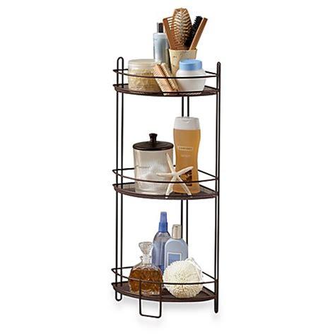 three tier bathroom shelf 3 tier corner storage shelf bed bath beyond