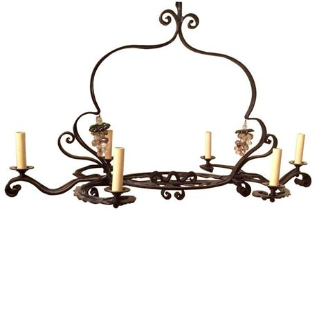 horizontal chandelier horizontal wrought iron chandelier for sale at 1stdibs