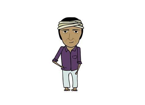 sholay film cartoon video sholay character illustrations on behance