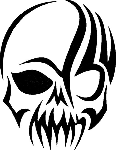 Tribal Skull Decal | Free Images at Clker.com - vector