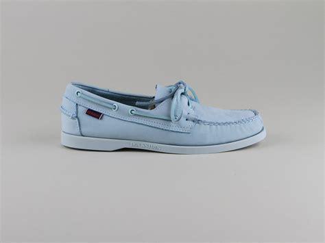 cgv only the brave chaussures sebago docksides lacets bleu ciel nubuck
