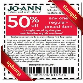 printable joann fabric coupons printable coupons 2014 latest and free in store printable