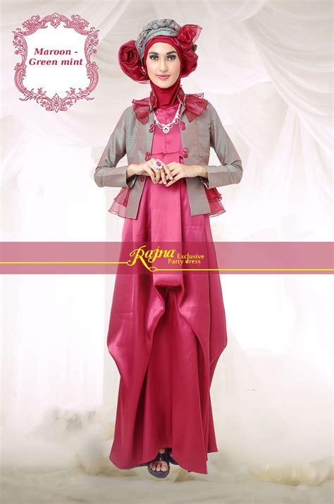 Gamis Pesta Rajna baju muslim modis dan baju pesta muslim modern rajna rj 18