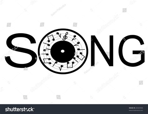 songs with the word this illustration depicts word song rounded stock vector