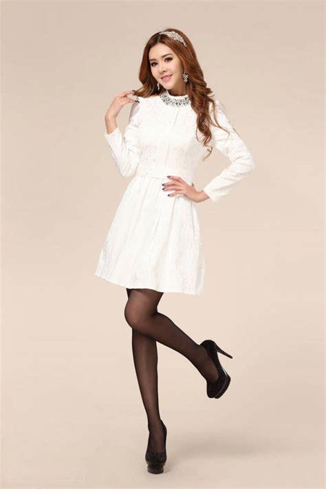 gaun pesta malam putih lengan panjang baju wanita online gaun pengantin lengan panjang related keywords gaun