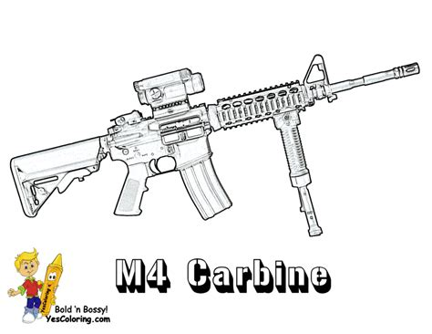 coloring pages of coloring pages free coloring pages of guns machine gun