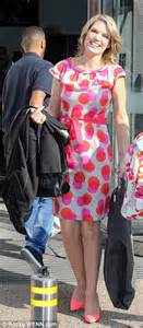 Gmb Dress Berry hawkins wears colourful dotty dress daily mail