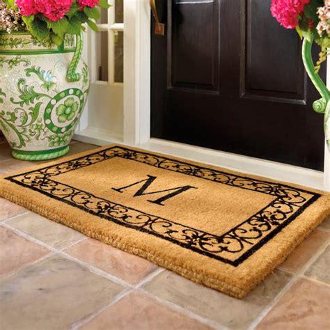 Frontgate Doormats - wayland monogrammed coco mat frontgate