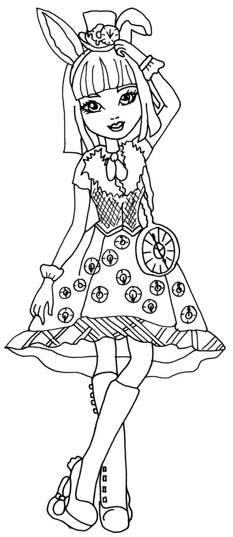 after high coloring book free printable after high coloring pages bunny blanc
