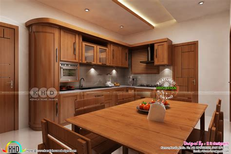interior design for kitchen room 2018 dining kitchen interior designs kerala home design and floor plans