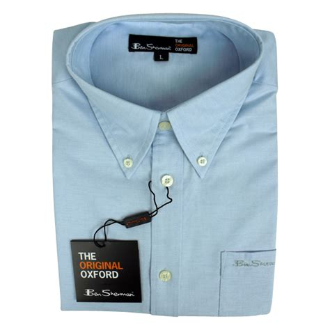 new mens ben sherman oxford eton classic cotton sleeve shirt size m 4xl ebay