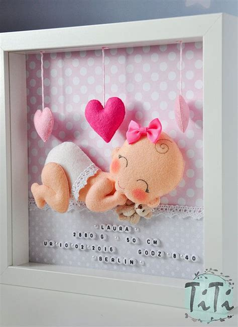 kinderzimmer deko personalisiert zierrahmen baby neugeborenes personalisierte f 252 hlte box