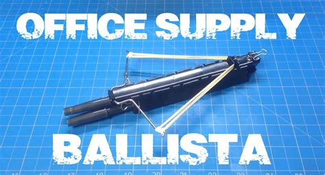 Office Supply Crossbow by Diy Mini Crossbow Office Supply Ballista