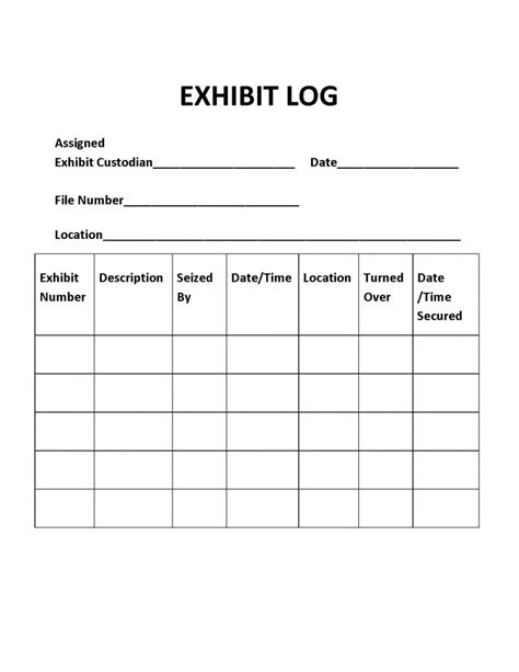 drug accountability log template gallery templates