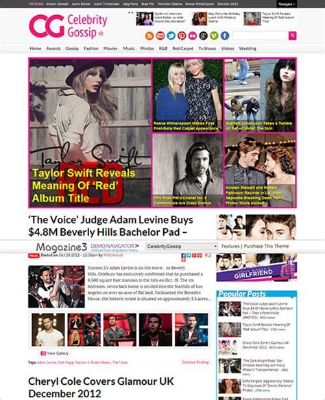 entertainment gossip websites 55 awesome themes you could buy today