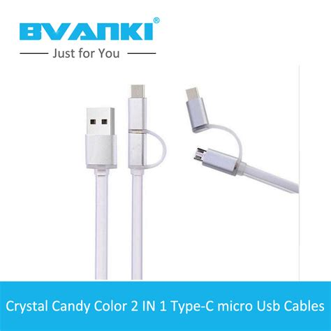 Termurah 2 In 1 Type C And Micro Usb Data Cable 1 bvanki type c 50pcs lot best products for import 2 in 1 micro type c 3 0 usb data sync charge