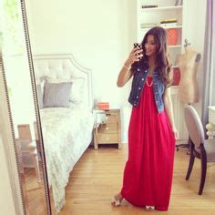 Maxi Luxy maxi dress and jean vest the luxy my