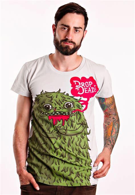 drop dead drop dead maniac grey t shirt impericon worldwide