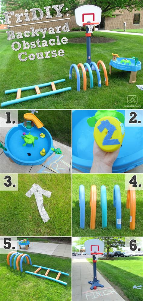 how to make a backyard obstacle course backyard obstacle course step2 blog