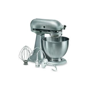kitchenaid ksm75sl classic plus 4 5 quart stand mixer silver