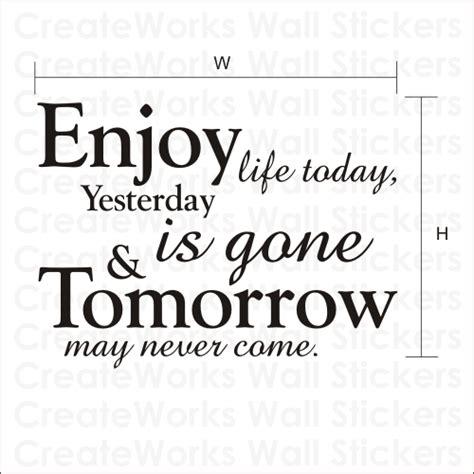 Wall Designs Stickers enjoy life today wall quote sticker wa048x