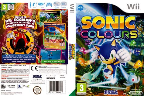 dvd format wii games sonic colours 2010 pal