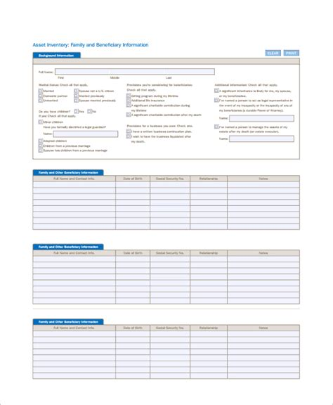 sle it inventory template 6 free documents download