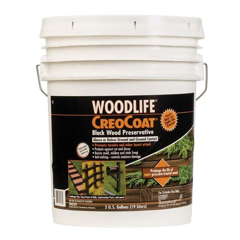 wolman 5 gal creocoat black below ground wood