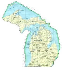 Michigan On A Map by Map Of Michigan Michigan Maps Mapsof Net