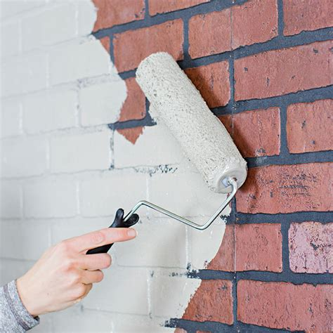 how i painted faux brick walls in the mancave paint a faux brick wall