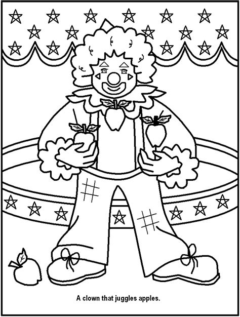 circus pictures for kids coloring home