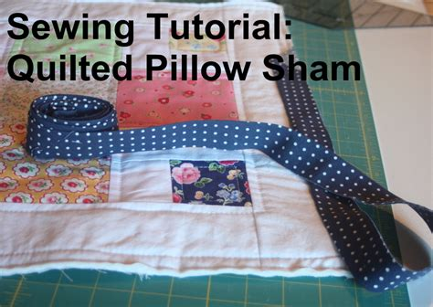 a quilted sham tutorial avery sewing