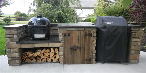 finished outdoor grill center diy garden landscaping pinterest