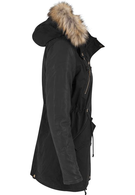 Sleeve Parka by Leather Imitation Sleeve Parka Tb1091