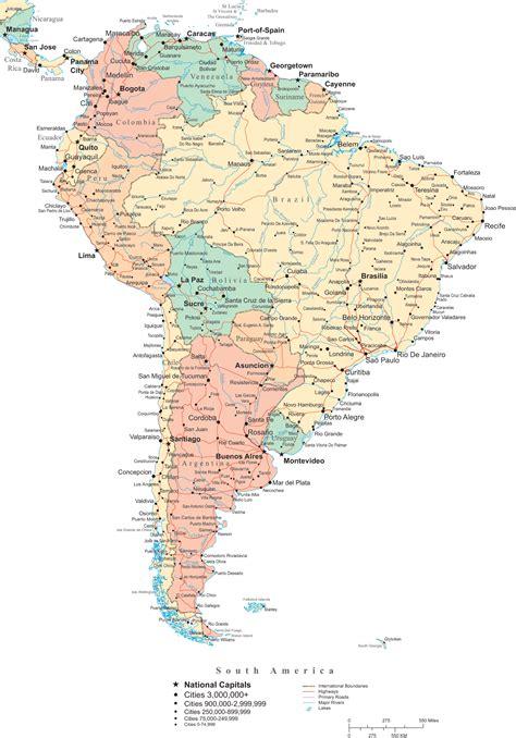 mapa politico de america imagenes mapa pol 237 tico de am 233 rica sur mapas pol 237 ticos atlas